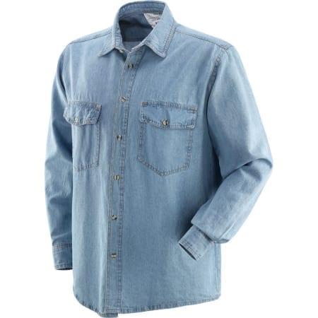 Camicia in 100% cotone tessuto jeans JEANS