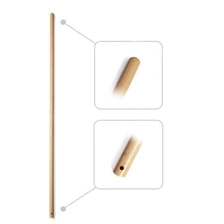 MANICO IN LEGNO GREZZO CON FORO (150cm)