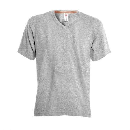 T-Shirt V-NECK uomo MELANGE