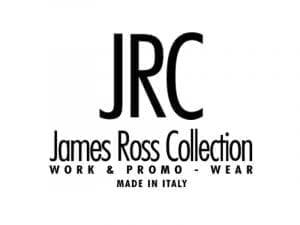 Immagine che mostra il logo della ditta JRC James Ross Collection. Uni3 servizi, fornitori di detergenti, imballaggio, antinfortunistica, abbigliamento professionale e articoli in carta.