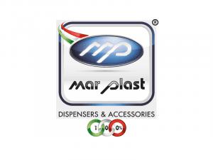 Immagine che mostra il logo della ditta mar plast. Uni3 servizi, fornitori di detergenti, imballaggio, antinfortunistica, abbigliamento professionale e articoli in carta.
