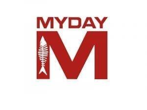 Immagine che mostra il logo della ditta Myday. Uni3 servizi, fornitori di detergenti, imballaggio, antinfortunistica, abbigliamento professionale e articoli in carta.