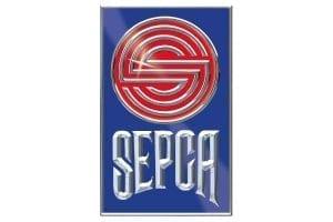 Immagine che mostra il logo della ditta sepca. Uni3 servizi, fornitori di detergenti, imballaggio, antinfortunistica, abbigliamento professionale e articoli in carta.