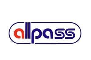 Immagine che mostra il logo della ditta Allpass. Uni3 servizi, fornitori di detergenti, imballaggio, antinfortunistica, abbigliamento professionale e articoli in carta.