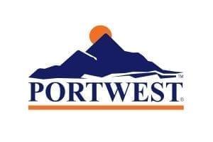 Immagine che mostra il logo della ditta portwest. Uni3 servizi, fornitori di detergenti, imballaggio, antinfortunistica, abbigliamento professionale e articoli in carta.