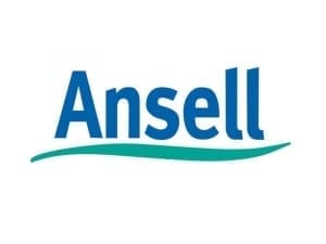 Immagine che mostra il logo della ditta ansell. Uni3 servizi, fornitori di detergenti, imballaggio, antinfortunistica, abbigliamento professionale e articoli in carta.