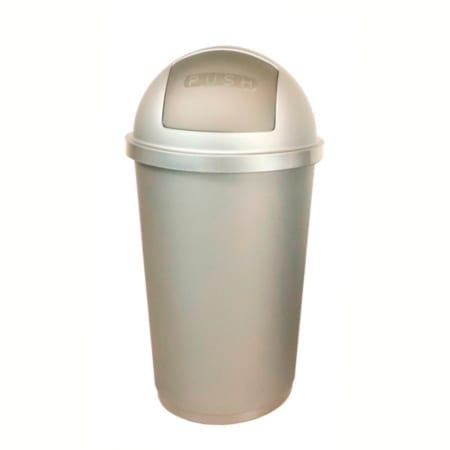 Bidone zeuss 60 litri 60lt chiusura push igienico